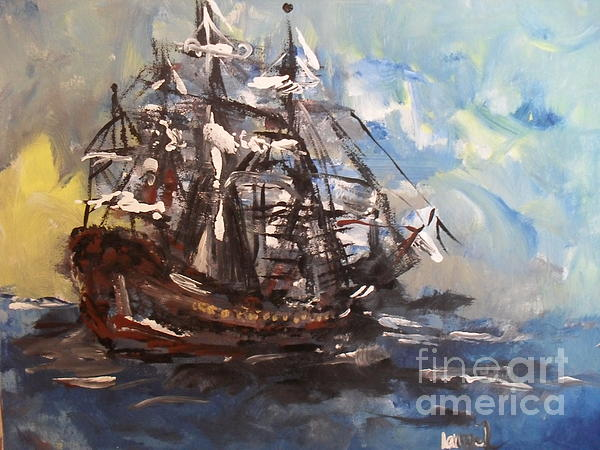 My Ship Print by Laurie D Lundquist