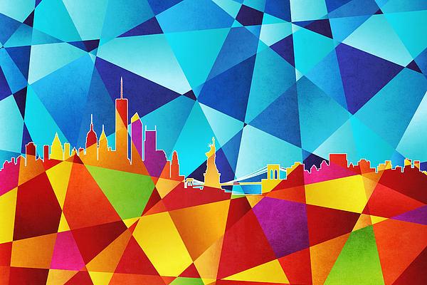 New York Skyline Print by Michael Tompsett