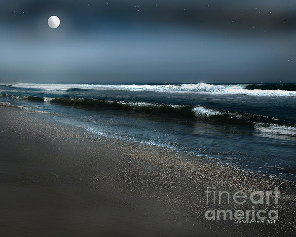 Night Beach  Print by Artist and Photographer Laura Wrede