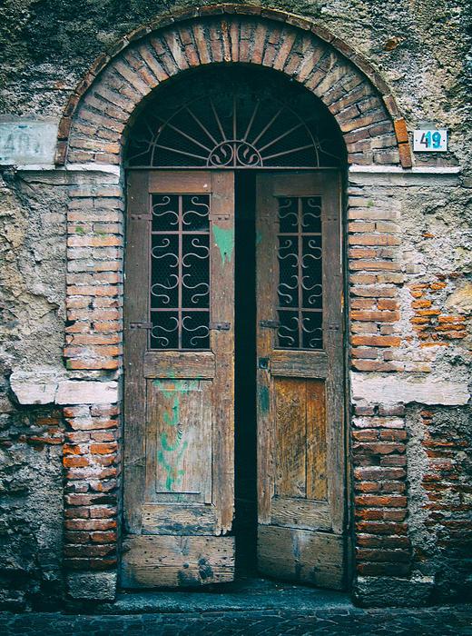 Old Italian Doorway Print by Mountain Dreams
