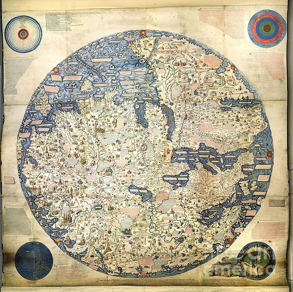 Old World Vintage Map Print by Inspired Nature Photography By Shelley Myke