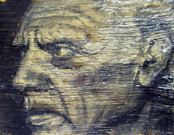 Pablo Picasso Face Portrait - Painting On The Wood Print by Nenad  Cerovic
