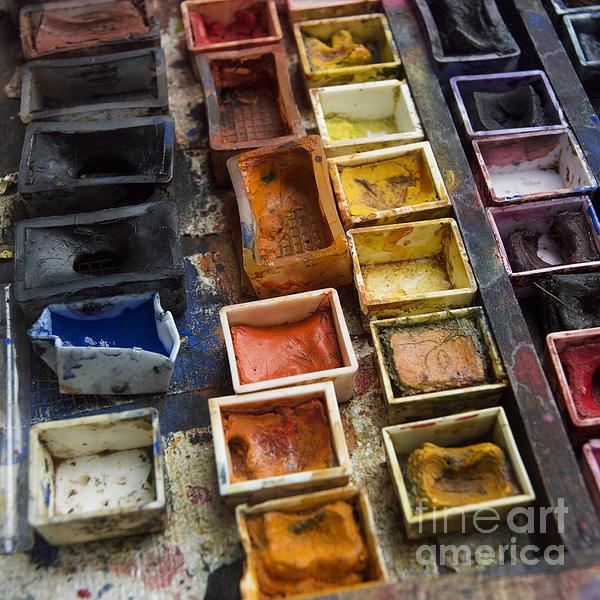 Paint Box Print by Bernard Jaubert