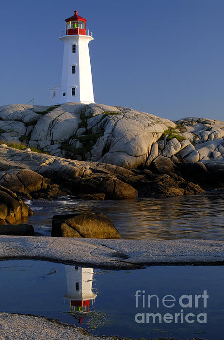 Peggy's Cove Lighthouse Print by Norman Pogson