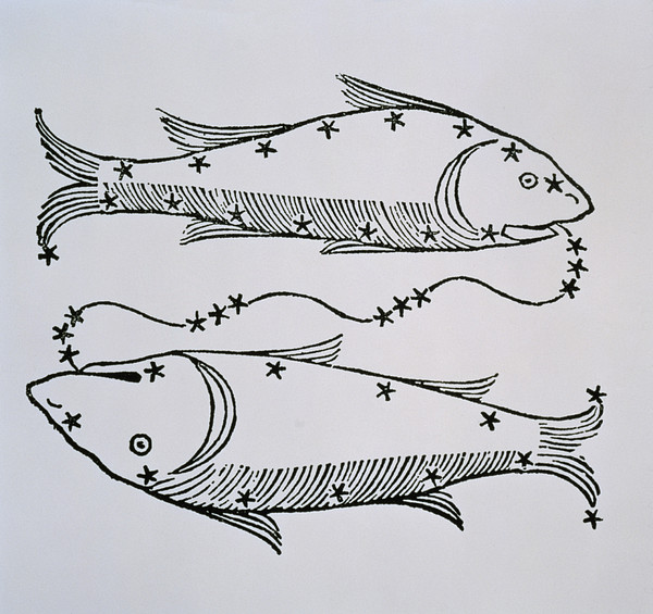 Pisces An Illustration Print by Italian School