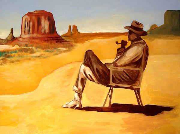 Poet In The Desert Print by Joseph Malham