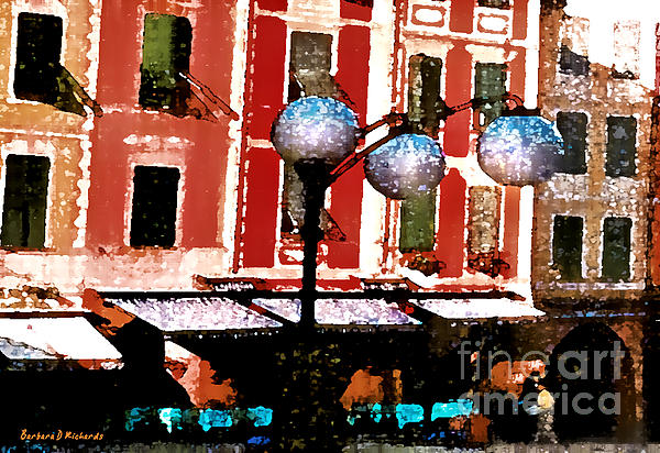 Portofino Cafe Print by Barbara D Richards
