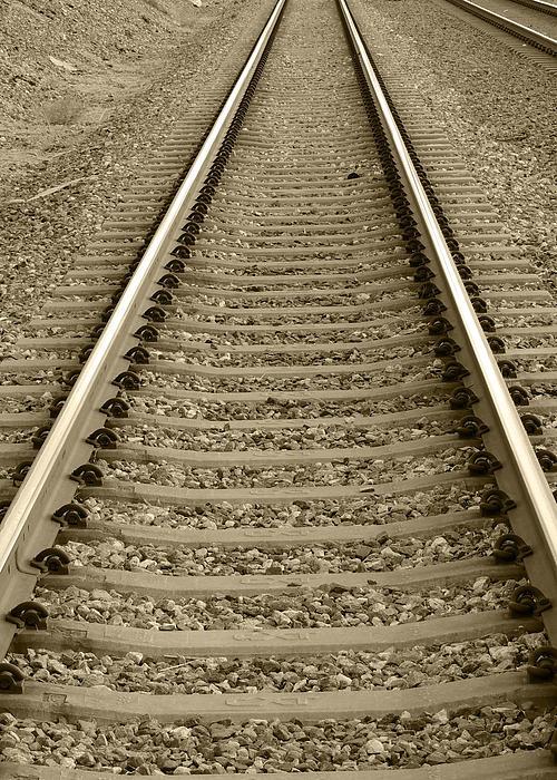 Railroad Tracks Print by Stellina Giannitsi Russell Pedri