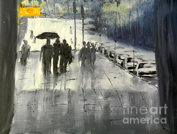 Pamela  Meredith - Rainy City Street
