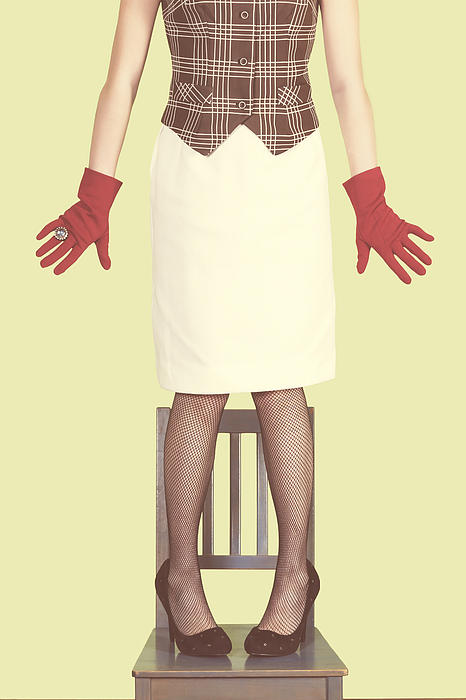 Red Gloves Print by Joana Kruse