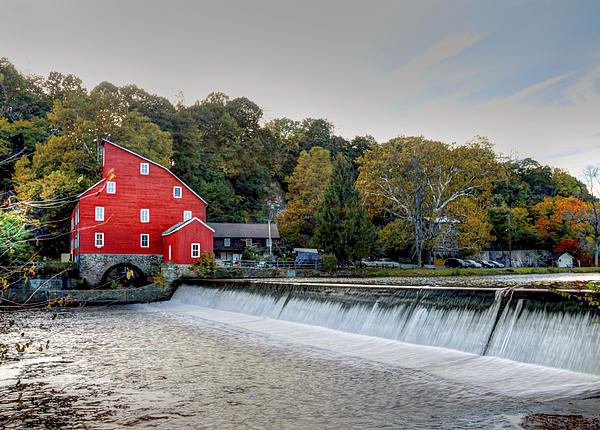 Red Mill Clinton Nj Print by Geraldine Scull