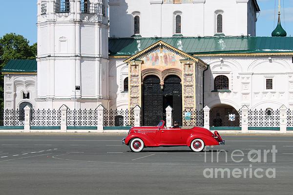 Retro Car Print by Evgeny Pisarev