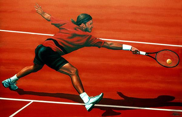 Roger Federer Print by Paul  Meijering