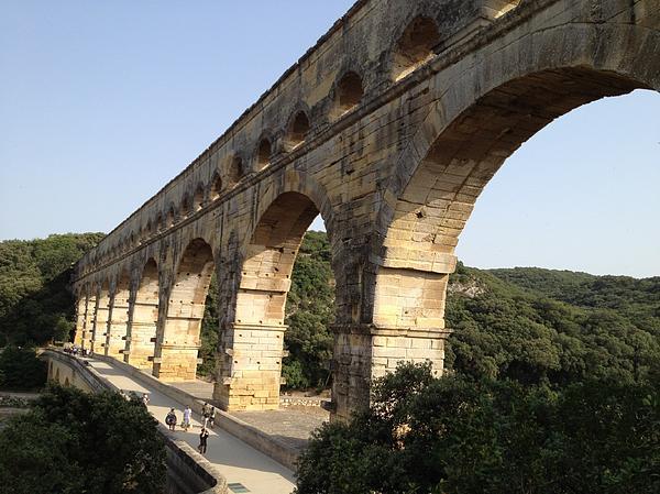Roman Aqueduct Print by Pema Hou