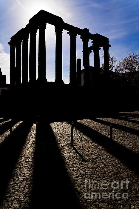 Roman Temple Silhouette Print by Jose Elias - Sofia Pereira