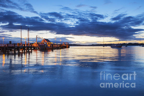 Russell Bay Of Islands New Zealand Print by Colin and Linda McKie
