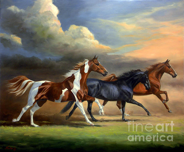 Jeanne Newton Schoborg - Saddlebreds Three