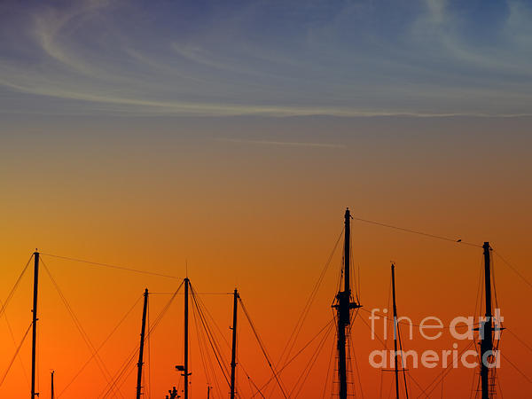 Sailing Boats Print by Stylianos Kleanthous