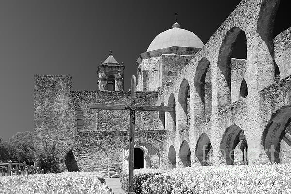 San Antonio - Mission San Jose Print by Christine Till