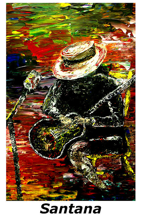 Santana  Print by Mark Moore
