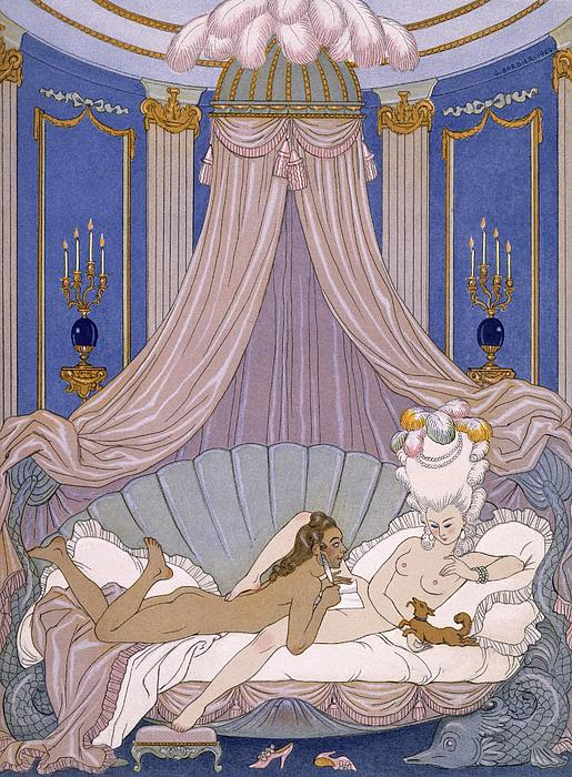 Scene From 'les Liaisons Dangereuses' Print by Georges Barbier