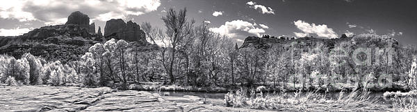Sedona Arizona Cathedral Rock Panorama Print by Gregory Dyer