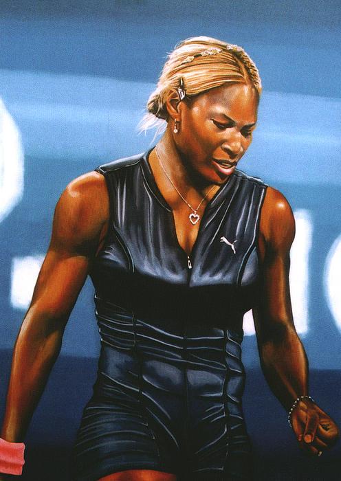 Serena Williams Print by Paul  Meijering