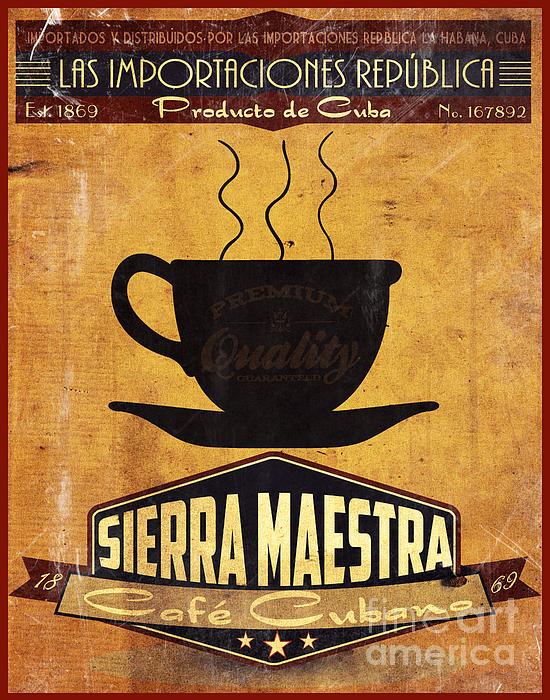 Sierra Maestra Cuban Coffee Print by Cinema Photography