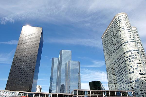Skyscrapers Print by Michal Bednarek