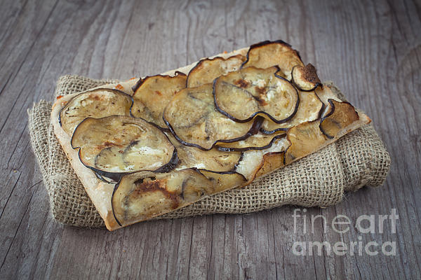 Sliced Pizza With Eggplants Print by Sabino Parente