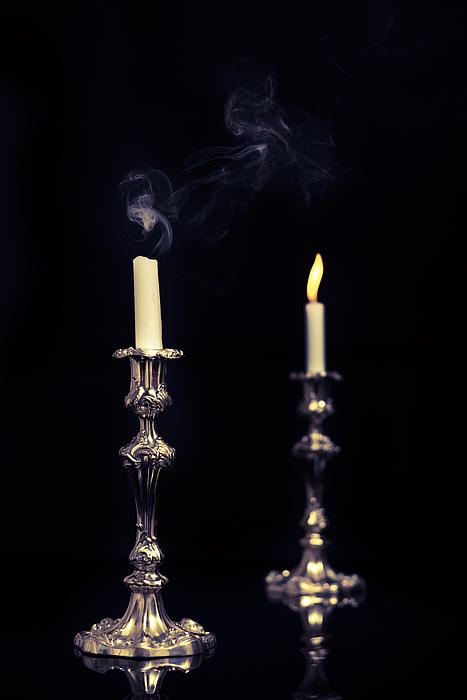 Smoking Candle Print by Amanda And Christopher Elwell