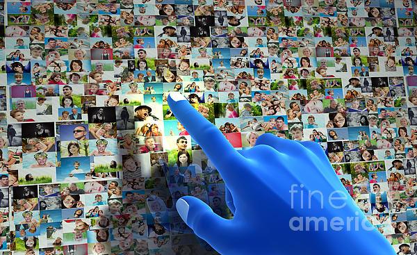 Social Media Network Print by Michal Bednarek