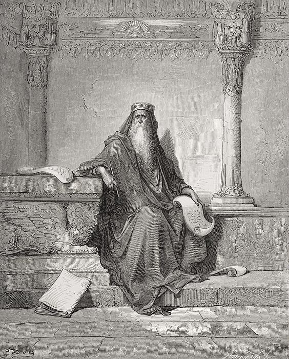 Solomon Print by Gustave Dore