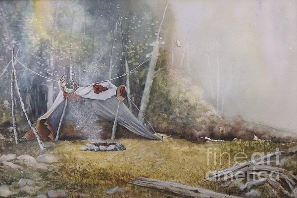 Spike Camp Print by Lynne Parker