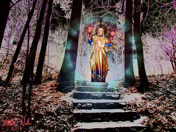 Stairway To Heaven Print by Michael Rucker