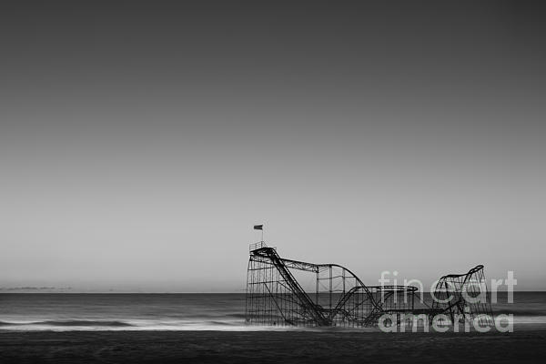 Star Jet Roller Coaster Hdr Print by Michael Ver Sprill