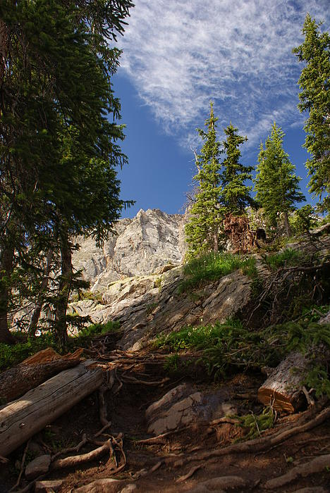 Steep Mountain Hike Print by Michael J Bauer
