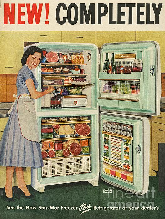 Stor-mor  1950s Uk Fridges Freezers Print by The Advertising Archives