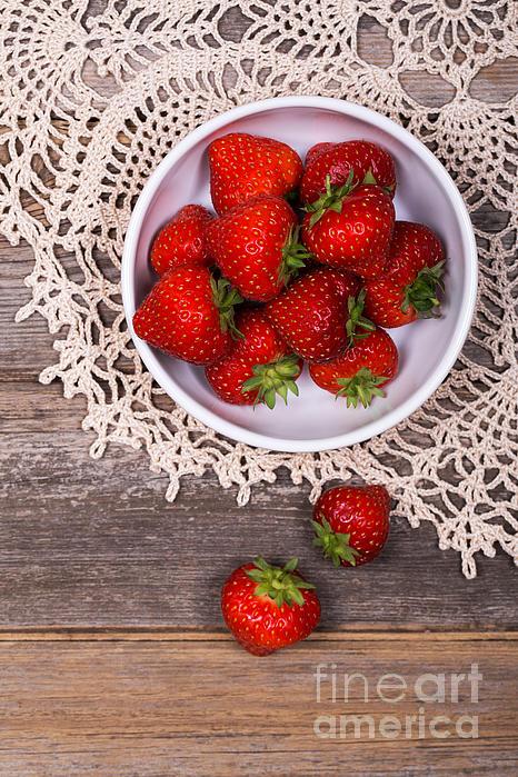 Strawberry Vintage Print by Jane Rix
