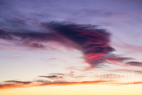 Sunset And Clouds Red Sensations. Print by Stefano Piccini