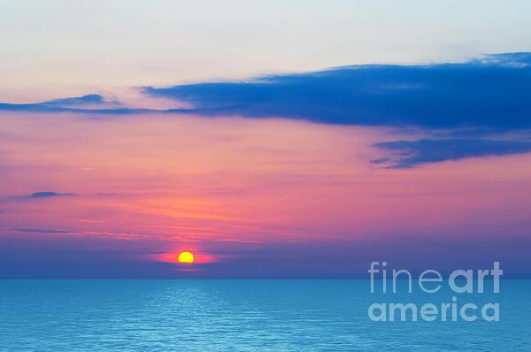Sunset By The Sea Print by Michal Bednarek
