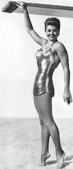 Swimming Star Esther Williams Print by Underwood Archives