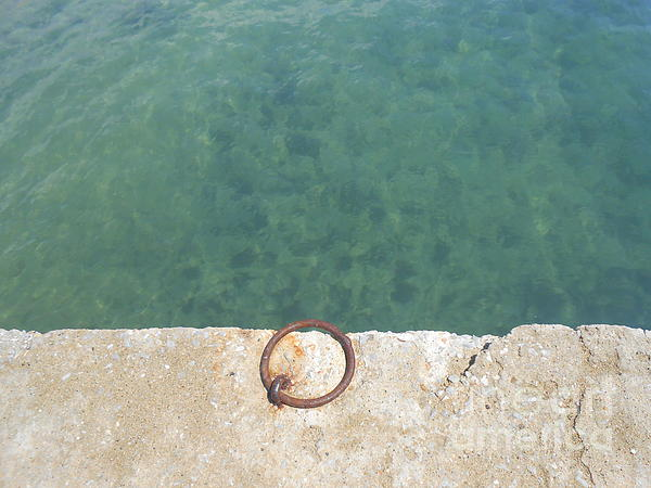 Ioanna Papanikolaou - Teal Waters And A Rusty Ring In A Dock