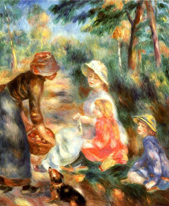 The Apple Seller Print by Pierre-Auguste Renoir
