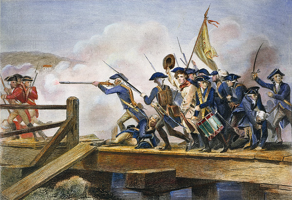 The Battle Of Concord, 1775 Print by Granger