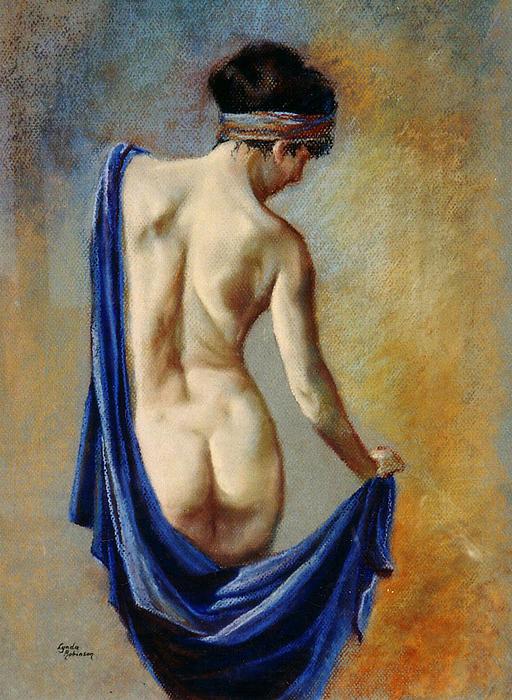 The Blue Shawl Print by Lynda Robinson