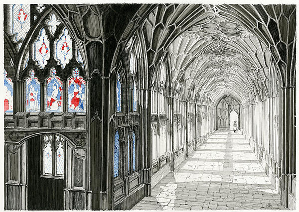 The Cloisters Print by John Simlett