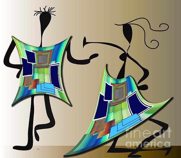 The Dancers Print by Iris Gelbart