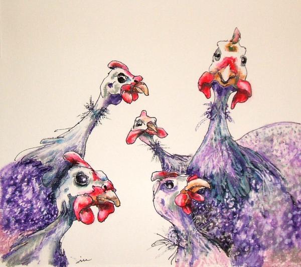 The Gang Print by Diane Kraudelt