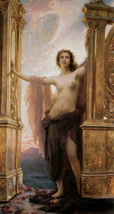 The Gates Of Dawn Print by Herbert James Draper